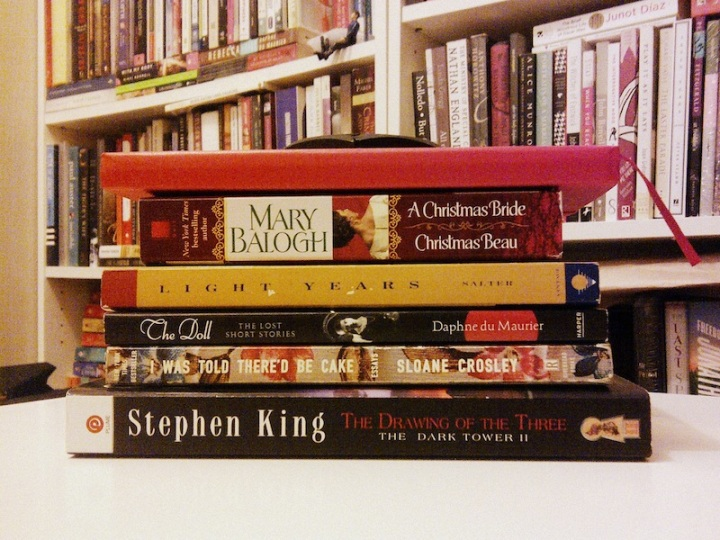 01142013: A book pile to cleanse the palate